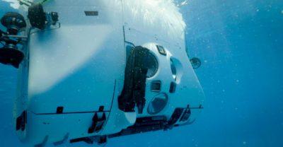Underwater shot of Limiting Factor.