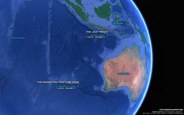 Survey Results - Deepest Point in Indian Ocean