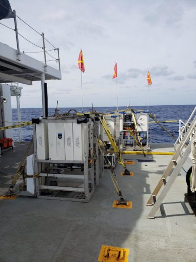 Science Landers Skaff, Flere and Closp ready for deployment in the Java Sea.