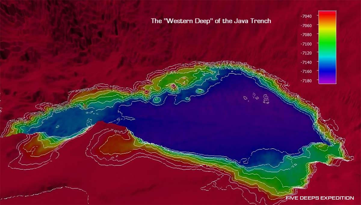The Western Deep of the Java Trench, as scanned by the Five Deeps Expedition in April 2019