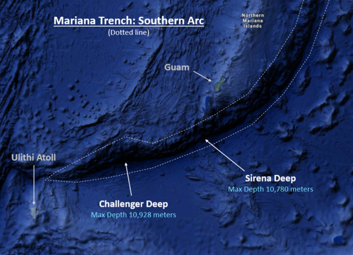 Challenger Deep Expedition Map