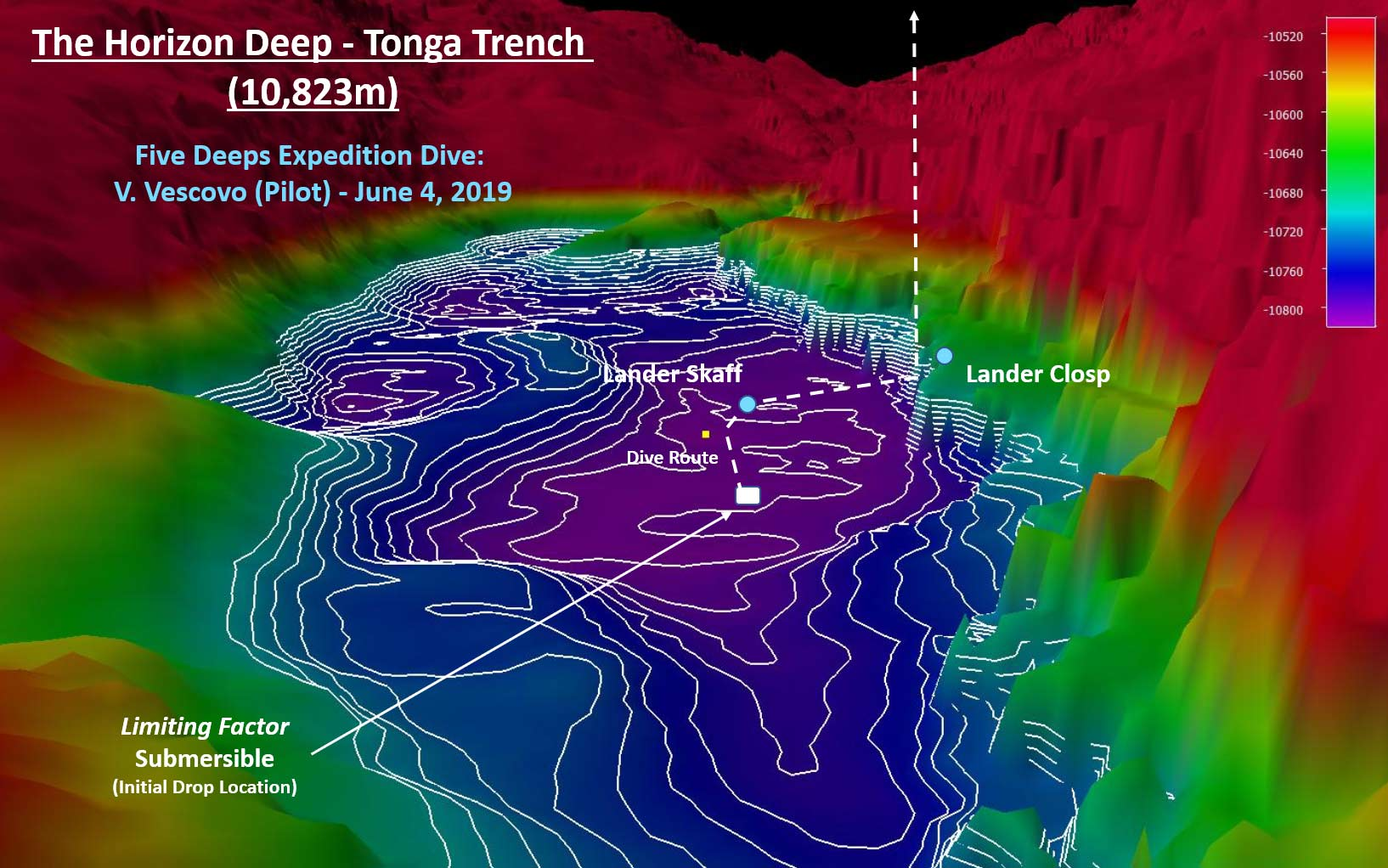 Five Deeps Expedition - Deepest Point in Tonga Trench Bathymetry 2019